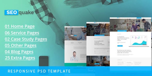 SEO quake – SEO & Digital Marketing Agency - PSD Template