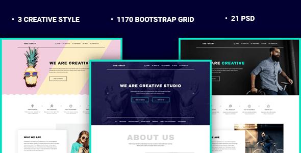 The Crazy - Creative Agency PSD Template