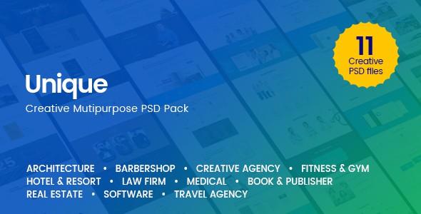 Unique - Creative Multi-Purpose PSD Template