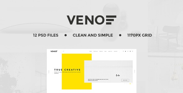 Veno | Creative Portfolio PSD Template