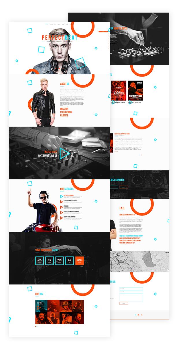 PerfectBeat - Creative DJ Booking Agency PSD Template - 2