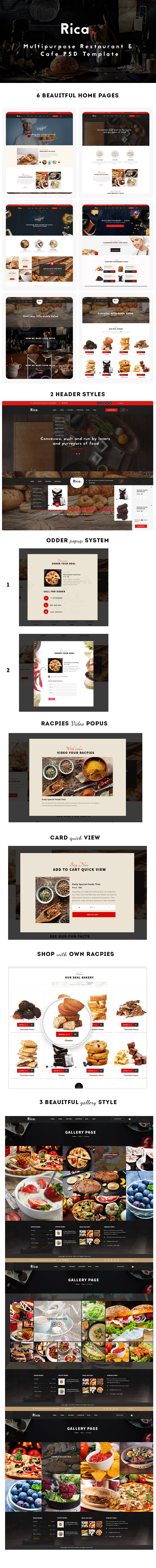 Rica - Multipurpose Restaurant & Cafe PSD Template - 5