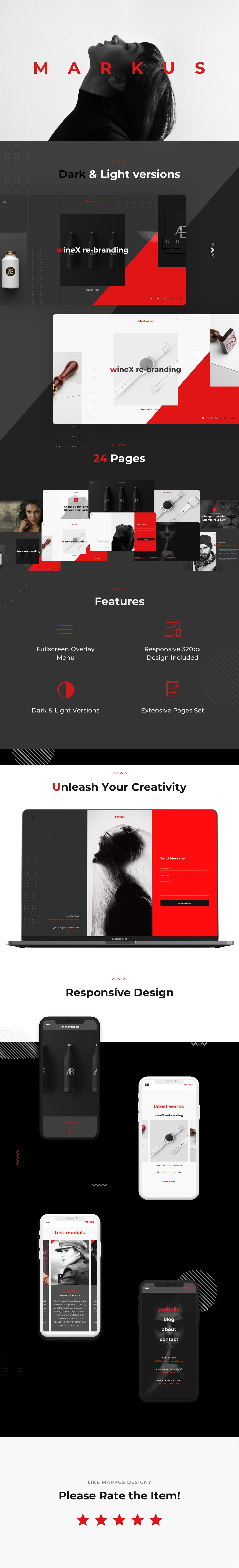 Markus – Creative Fullscreen Portfolio PSD Template - 6