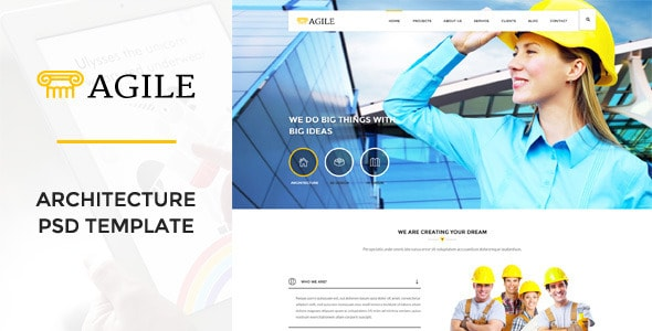Agile - Building & Construction PSD Template