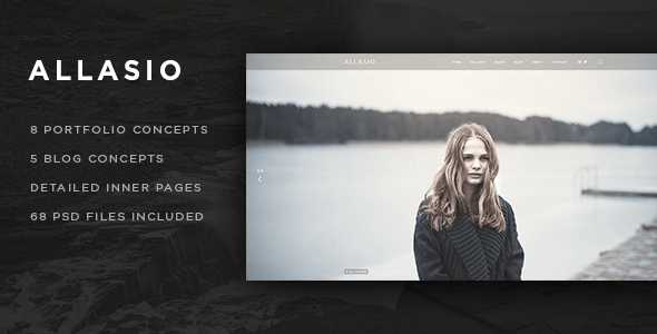 Allasio - An Exquisite Photography and Lifestyle Blog Template