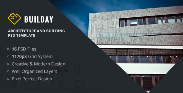 Builday - Architect And Building PSD Template