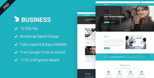 Business - Business and Corporate PSD Template