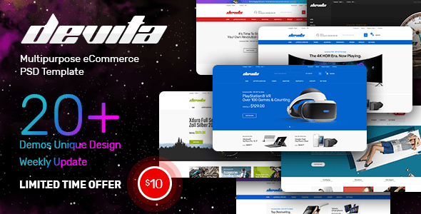 Devita - Multipurpose eCommerce PSD Template