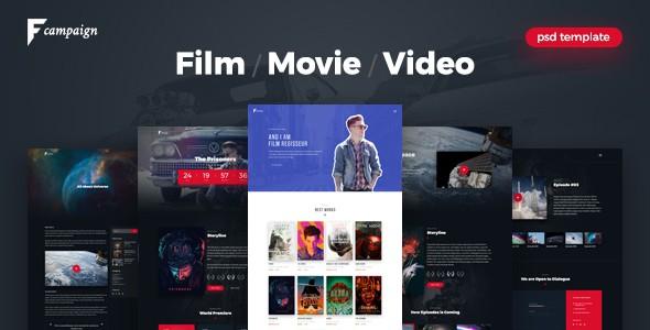 FilmCampaign - Film Campaign PSD Template