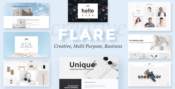 Flare - Multipurpose Business PSD Template