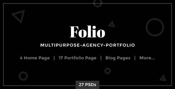 Folio - Multipurpose-Agency-Portfolio PSD Template