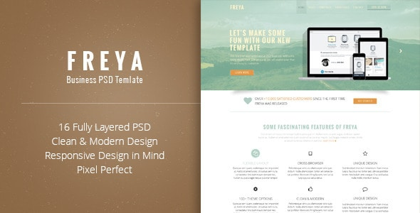 Freya - Business PSD Template