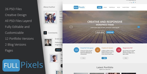 FullPixels - Creative PSD Template