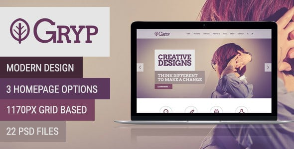 Gryp - Multi-Purpose PSD Template