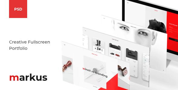Markus – Creative Fullscreen Portfolio PSD Template