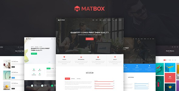 Matbox - Material Design Agency Template