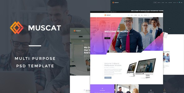 Muscat : Multi-Color Multipurpose PSD Template
