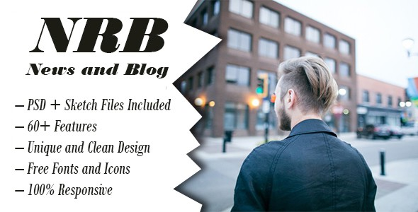 NRB | Blog / News, Psd + Sketch Template