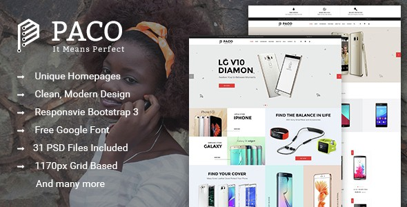 Paco - Multi-Purpose eCommerce PSD Template