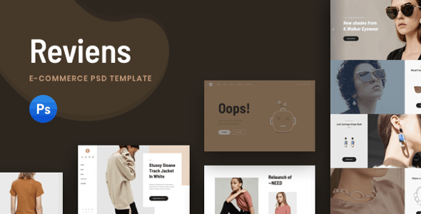 Reviens - Ecommerce PSD Template