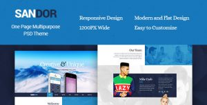 Sandor - Creative One Page PSD Theme