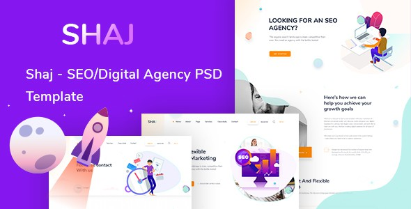 SHAJ - SEO/Digital Agency PSD Template