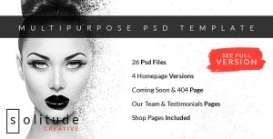 Solitude - Multipurpose PSD Template