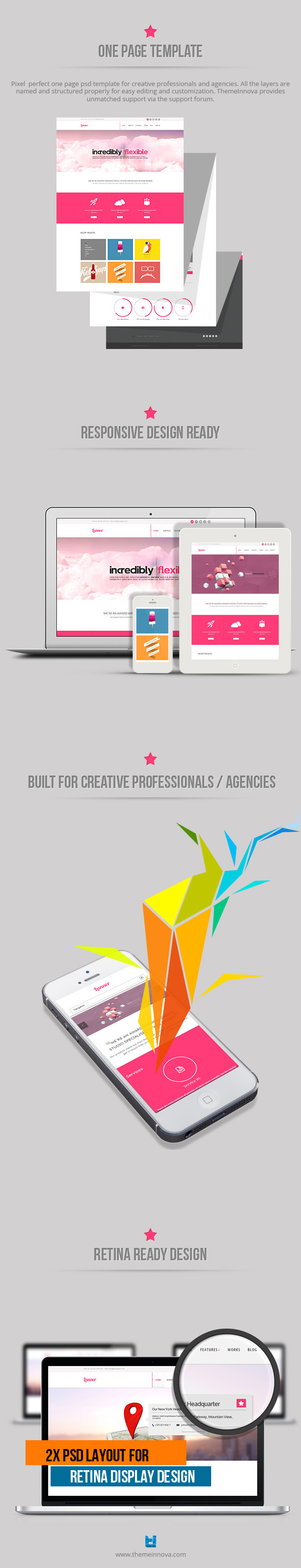 Lunner - One Page Portfolio Template - 5