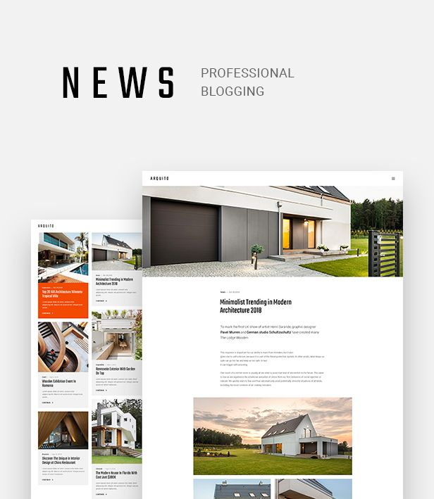 Arquito - Architecture & Interior PSD Template - 7
