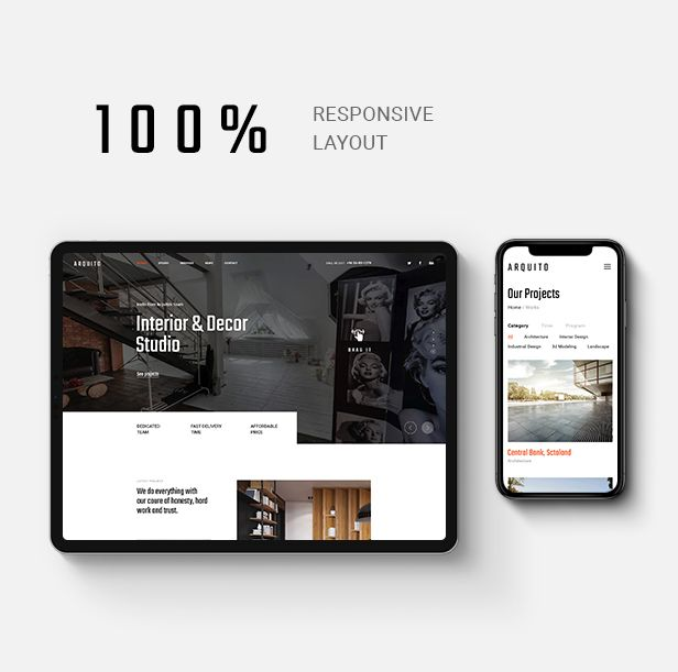 Arquito - Architecture & Interior PSD Template - 8