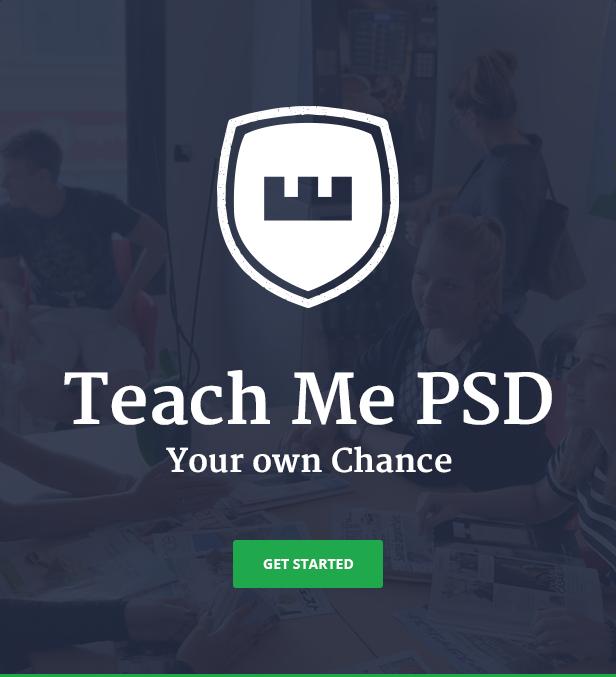 Teach Me - Education PSD Template
