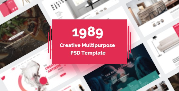 1989 - Modern Creative Multipurpose PSD Template