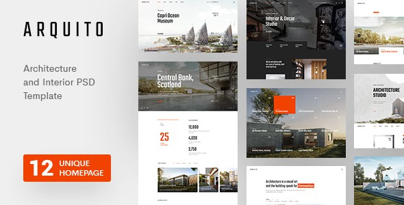 Arquito - Architecture & Interior PSD Template