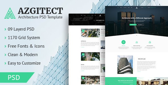 Azgitect - Architecture PSD Template