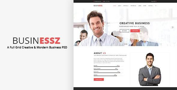 Businessz - Business PSD Template