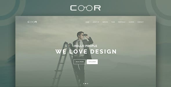 Coor - Creative One Page PSD Template.