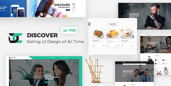Discover - Creative Multi-Purpose PSD Template