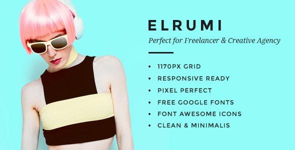 Elrumi - Creative PSD Template
