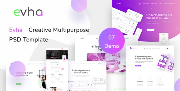 Evha - Creative Multipurpose  PSD Template