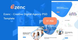 Ezenc  - Creative Digital Agency & Multipurpose PSD Template