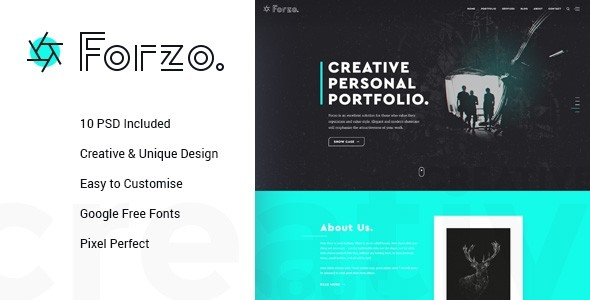 FORZO – Creative Photography PSD Template