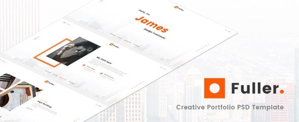 Fuller - Creative Portfolio, Resume & Agency PSD Template