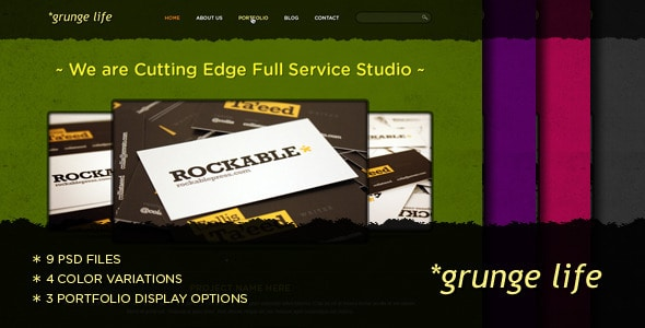 Grunge Life - An Exclusive PSD Theme