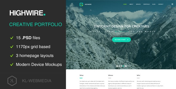 Highwire - PSD Template