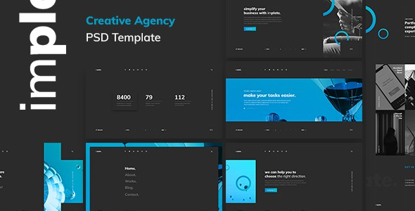 implate. — Creative Agency PSD Template