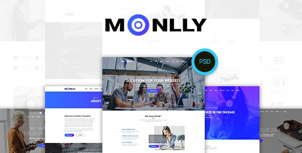 Monlly - Multi-Purpose PSD Template