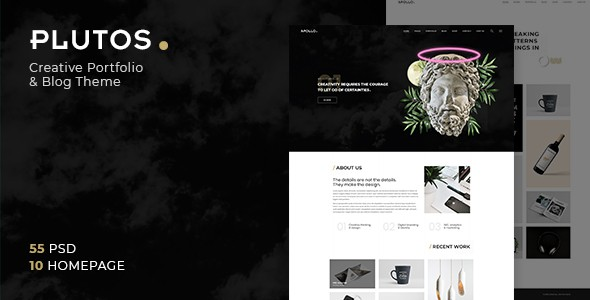 Plutos - Multipurpose Creative Portfolio & Blog PSD Template
