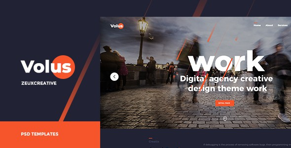 Volus - Onepage PSD Template
