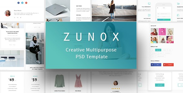 Zunox - Creative Multipurpose PSD Template