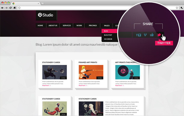 A Stunning Interactive Agency PSD - 1